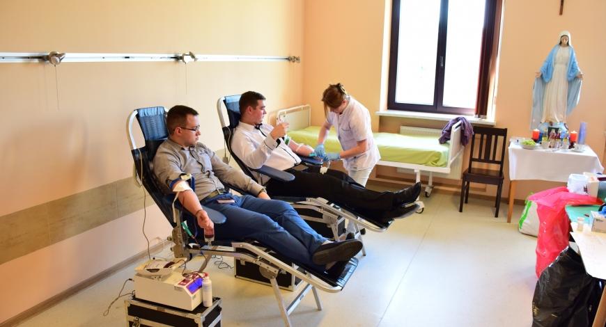 Akcja krwiodawstwa w WSD