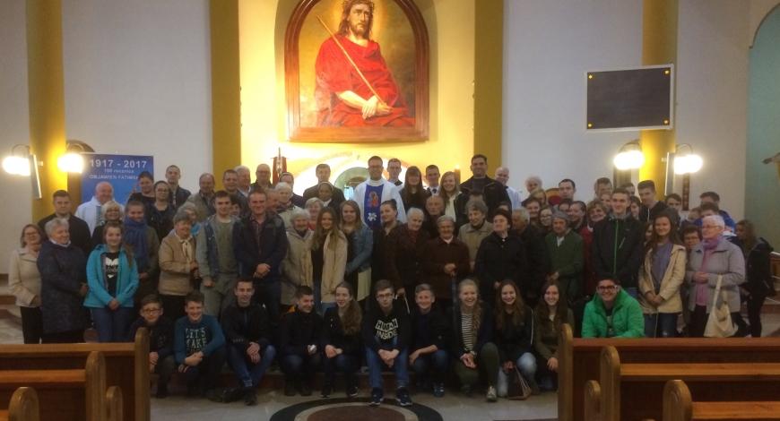 Sztafeta w parafii pw. Chrystusa Króla (Pabianice)